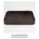 Houston Hide Tray | Brown