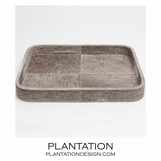 Houston Hide Tray | Grey