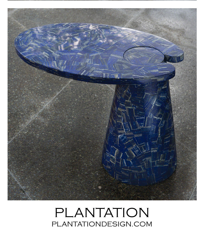 Hover Stone Side Table | Lapis