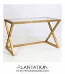 Irvine Desk | Gold Leaf