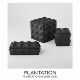 Jester Ceramic Boxes | Black