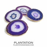 Karla Agate Coasters | Purple