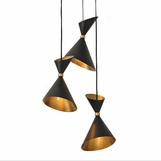 Kinsey Bronze & Brass Pendant | 3-Light