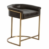 Klein Leather Counter Stool | Brown