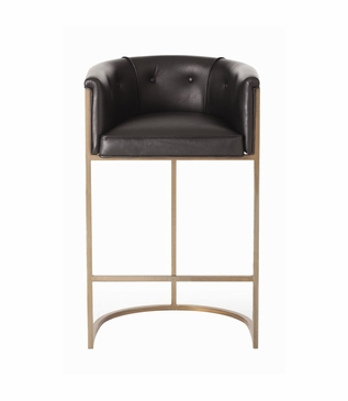 Klein Leather Bar Stool w/Back | Brown
