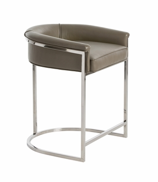 Klein Leather Counter Stool | Grey