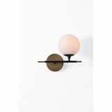 Kristen Right-Facing Sconce | Brass