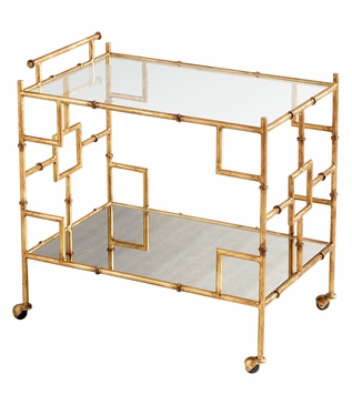 Kuma Gold Leaf Bar Cart