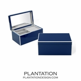 Lacquer Jewelry Box | Navy