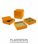 Lacquer Stacked Jewelry Box | Orange
