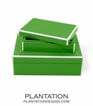Lacquer Storage Boxes Set | Kelly Green