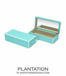 Lacquer Trinket Box | Turquoise