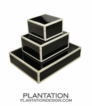 Lacquered Boxes | Black & White Trim