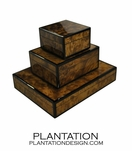 Lacquered Boxes   Walnut Burl