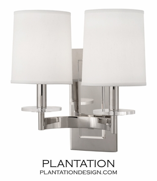 Landry Double Sconce | Polished Nickel