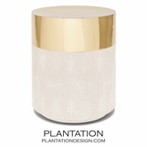"Lavin ""Shagreen"" Stool 