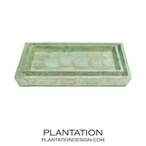 Leeds Shell Tray Set | Green