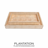 Leeds Shell Tray Set | Peach