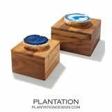 Legno Boxes | Blue Agate & Gold