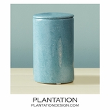 Lennox Faux Shagreen Jar | Lidded