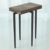 Lila Iron Accent Table | Copper