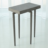 Lila Iron Accent Table | Grey