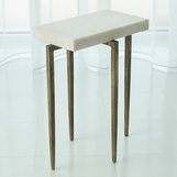 Lila Iron Accent Table | White