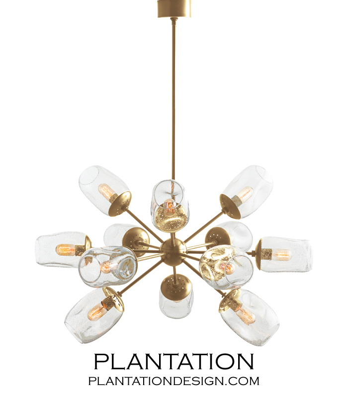 Livingston Antique Brass Chandelier - Livingston Antique Brass Chandelier PLANTATION