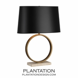 Liza Short Table Lamp | Brass