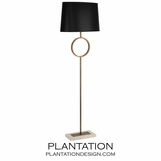 Liza Floor Lamp | Brass