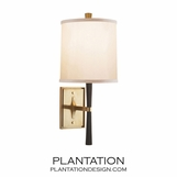 Middleton Sconce | Ebony & Brass