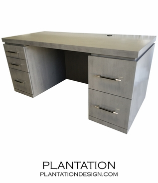 Madison Desk | Grey Velvet