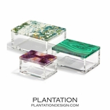Madura Lucite Box | Malachite