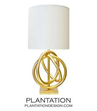 Magnus Lamp | Gold Leaf