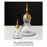Majesty Glass Decanters | Brass