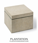 "Mako Taupe ""Shagreen"" Box 