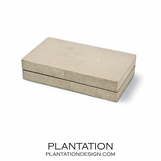 "Mako Taupe ""Shagreen"" Boxes 