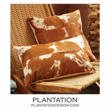 Maksim Cowhide Pillows Set | Brown
