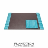 Manoa Snakeskin Desk Set | Teal