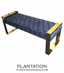 Matador Tufted Bench | Brass