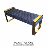 Matador Tufted Bench, Brass