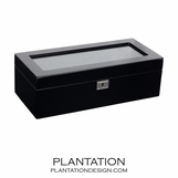 Matteo 5 Watch Box | Black Lacquer