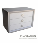 Mercer 3-Drawer Side Table, Fabric Fronts