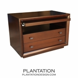 Mercer Side Table | Pullout Shelf