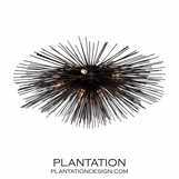 Meteor Grand Flush Mount | Black Iron