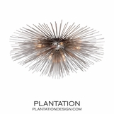 Meteor Grand Flush Mount | Nickel
