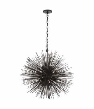 Meteor Medium Chandelier | Black Iron