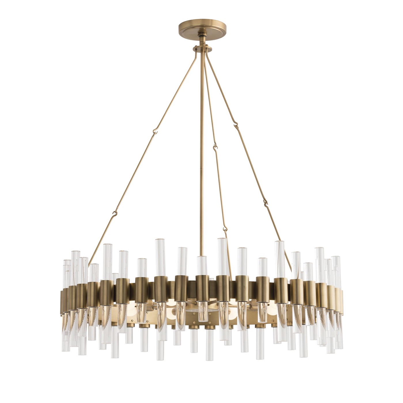 Miskell Brass Amp Lucite Grand Chandelier Round Plantation