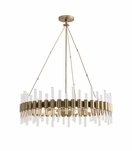 Miskell Brass & Lucite Grand Chandelier | Round