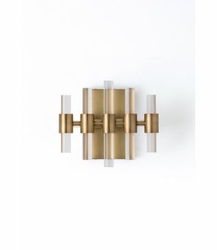 Miskell Brass & Lucite Sconce